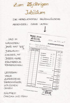 Fahrschule Koch 25 Jahre Jubiläum
